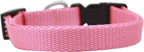 Plain Nylon Cat Safety Collar Pink