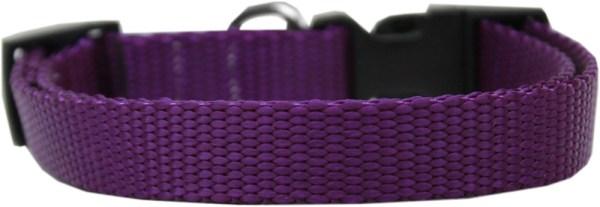 Plain Nylon Large Cat Collar Purple