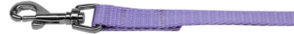 "Plain Nylon Leash 3/8"" by 6ft Lavender"