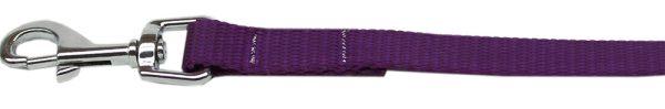 """Plain Nylon Leash 3/8"""" by 4ft Purple"""