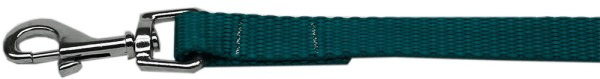 "Plain Nylon Leash 3/8"" by 4ft Teal"