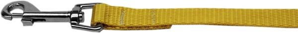 "Plain Nylon Leash 3/8"" by 6ft Yellow"