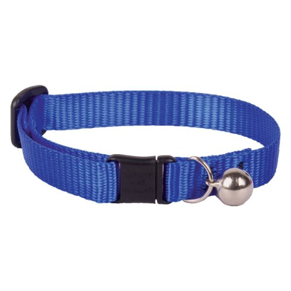 """Premium Safety Collar - Blue, 8-12"""" with bell"""