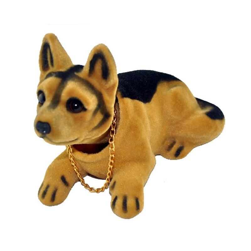 QFHETJIE רכב קישוט רועד כלב מהנהן כלב רכב סטיילינג חמוד Bobblehead כלב בובה מנידה ראש עבור רכב פנים קישוט