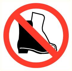 Interdiction de porter des chaussures