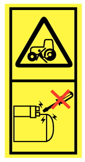 Danger d'écrasement par roue véhicule