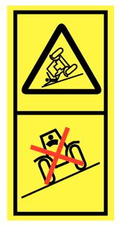 Danger de basculement et d'écrasement par véhicule