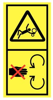 Danger entrainement par rouleaux