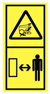 Danger d'écrasement par véhicule