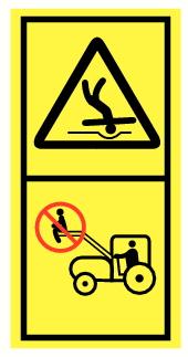 Danger chute du véhicule