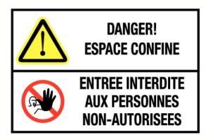 Espace confiné entrée interdite