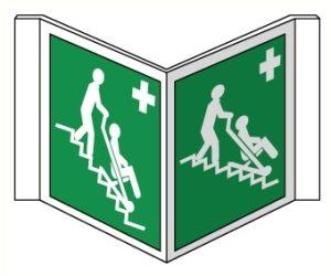 Drapeaux Chaise d'évacuation