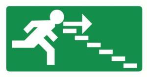 Vers escalier descendant droite