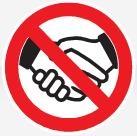 Interdiction de contact/serrer les mains