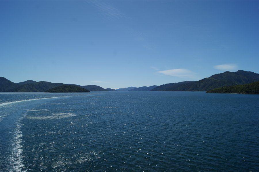 Ferry entre las islas de Nueva Zelanda