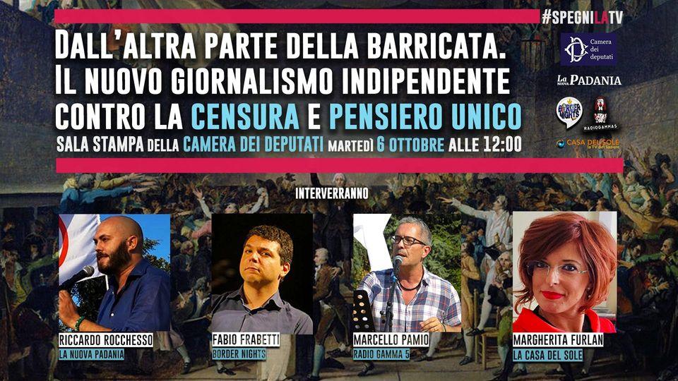 Dall'altra parte della barricata. Il nuovo giornalismo indipendente – Conferenza stampa