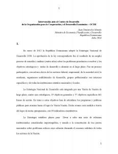 Intervención Ministro Montas