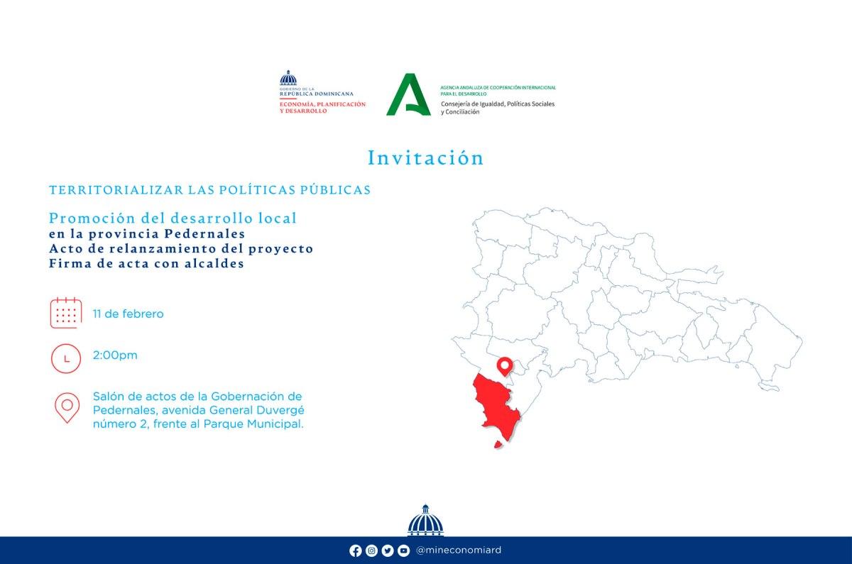 Ministerio de Economía y Agencia Andaluza pondrán en ejecución proyecto de cooperación por un monto de 400 mil euros en Pedernales