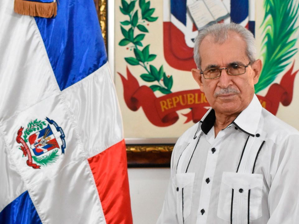 Bolívar Troncoso Morales, director general del Instituto Geográfico Nacional José Joaquín Hungría Morell.