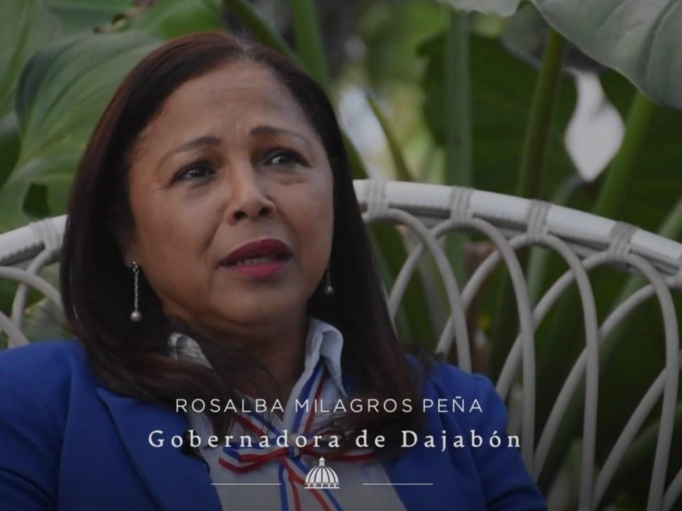 La gobernadora de Dajabón, Rosalba Milagros Peña.