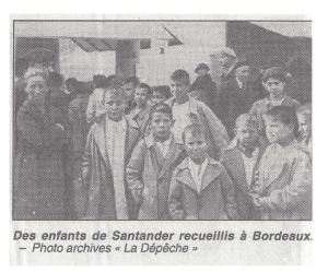 Enfants espagnols accueillis dans le Sud-Ouest