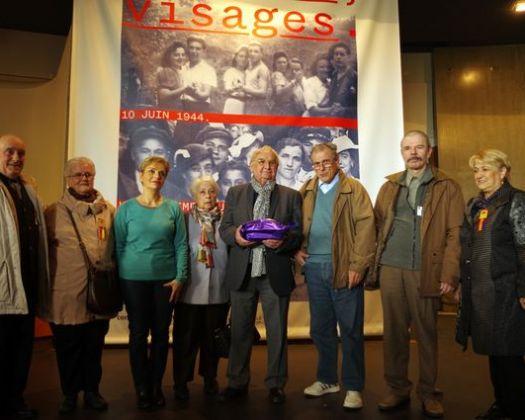 Avec Robert Hébras avant la visite d'Oradour