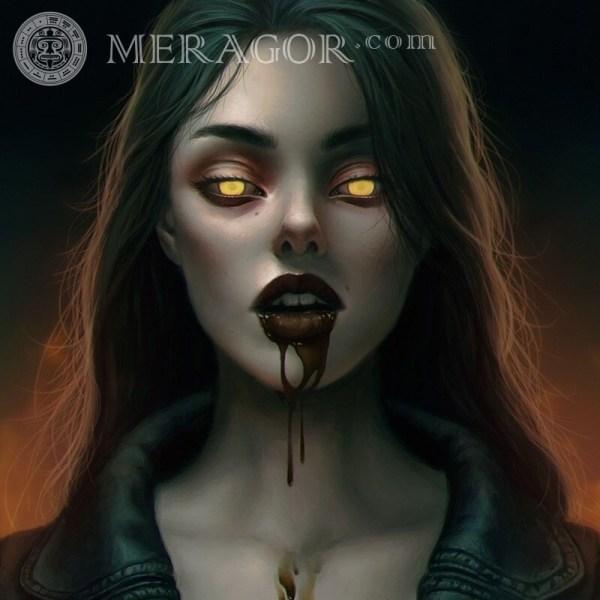 MERAGOR | Девушка вампир картинка на аву скачать