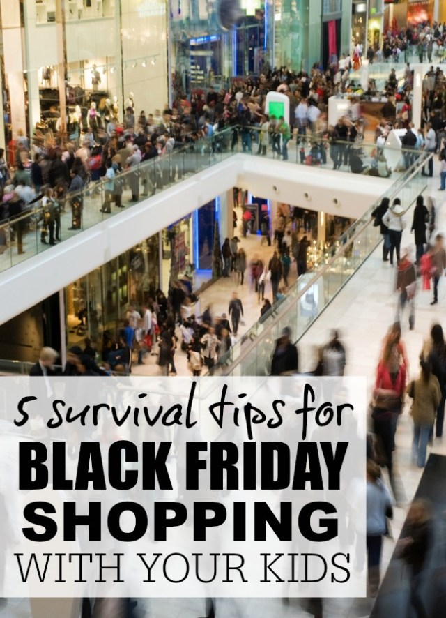 Love Black Friday deals, but can't fathom navigating the mall with your little ones in tow? No worries! These survival tips have you covered.