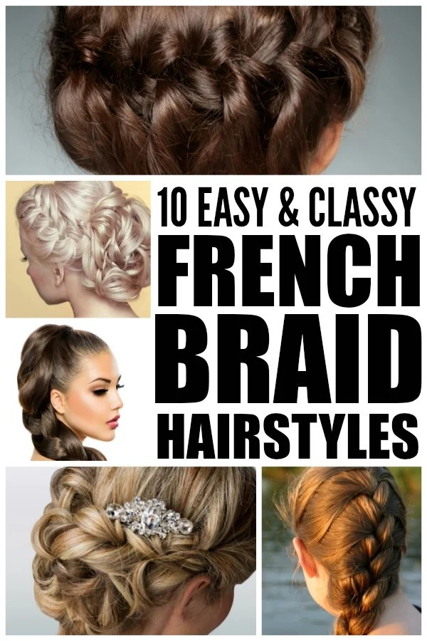 If you're looking for new and trendy summer hairstyles to dress up your look, you'll love this collection of 10 easy and classy French braid hairstyles. Tutorial 1 will teach you how to French braid hair if you're new to the world of braided hairstyles, tutorials 6 and 10 will teach you how to sculpt your hair into a sexy French braid bun if you're looking for summer wedding hair ideas, and tutorial 9 is perfect if you have short hair. Good luck and enjoy!