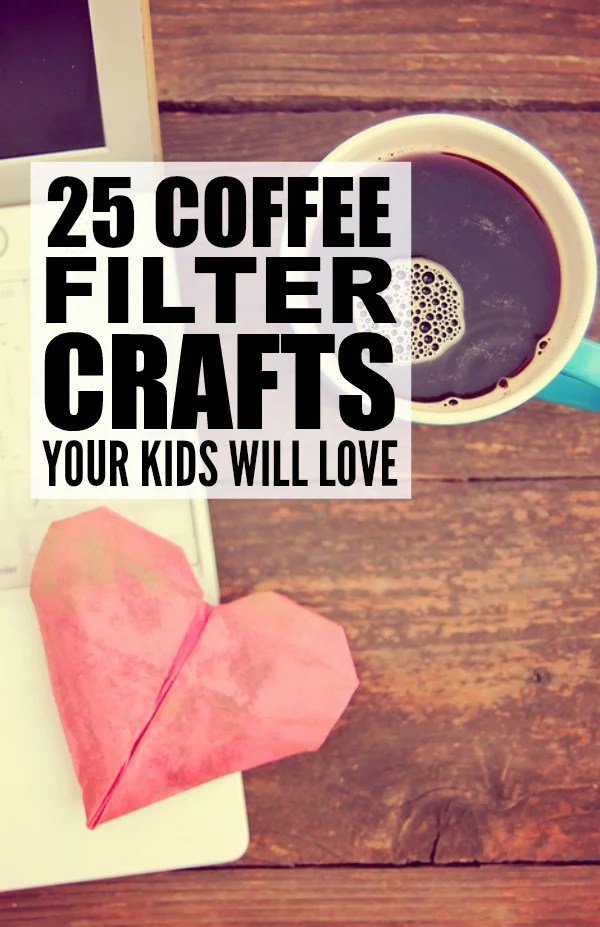 If you're looking for boredom busters for kids for bad weather days, give some of these coffee filter crafts for kids a try! They make for great keepsakes (think: Thanksgiving decorations and DIY Christmas gifts) and are the perfect excuse to make yourself a big cup of jo!