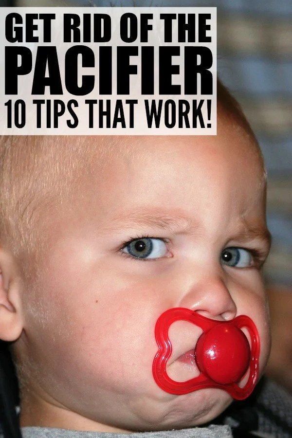 While pacifiers are a great self-soothing tool, some kids are more reluctant than others to give them up. The good news is that there are HEAPS of different was to get rid of the pacifier without traumatizing your little one. Here are 10 of our favorite tips to help your kids ditch the pacifier!