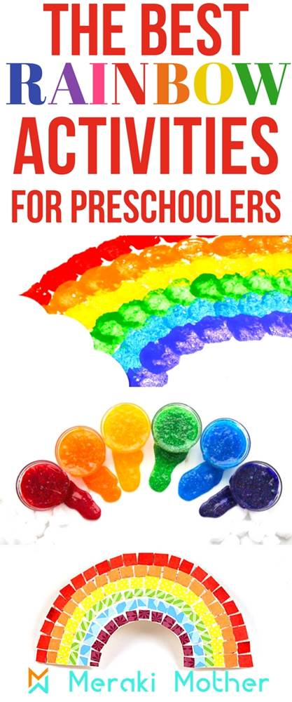 Rainbow Activities For Preschoolers Meraki Mother