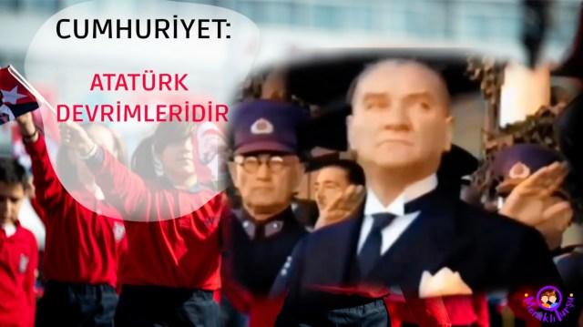 Cumhuriyet demek, demokrasi, özgürlük, laiklik, Atatürk devrimleri, Mustafa Kemal Atatürk, irem sunar özat
