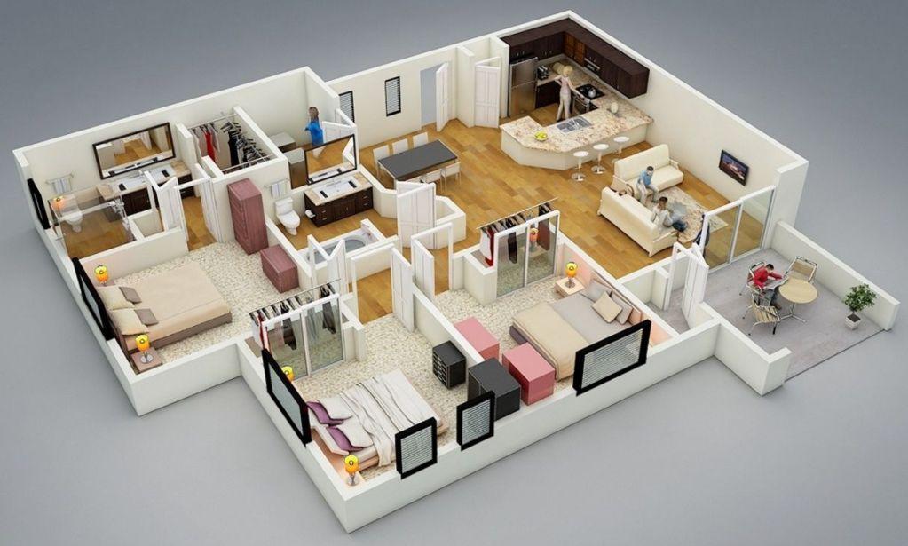 Casa Moderna   Plano Casa Moderna Una Planta  7  Plano Casa