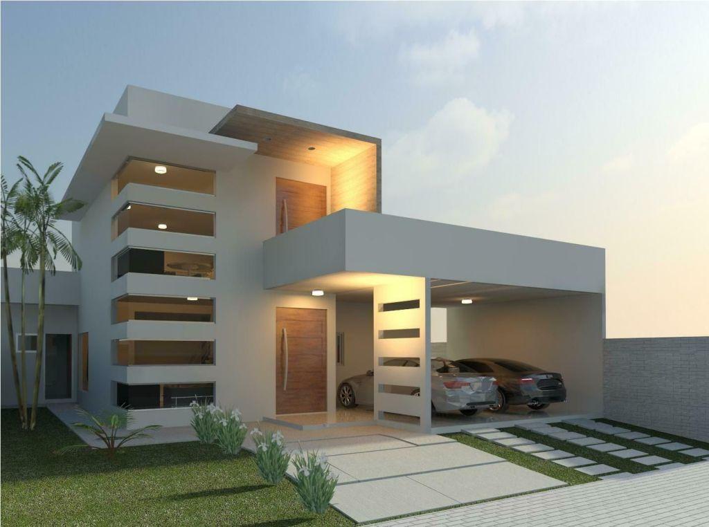 Linda Fachada Moderna Para Casas   Interiores   House Design