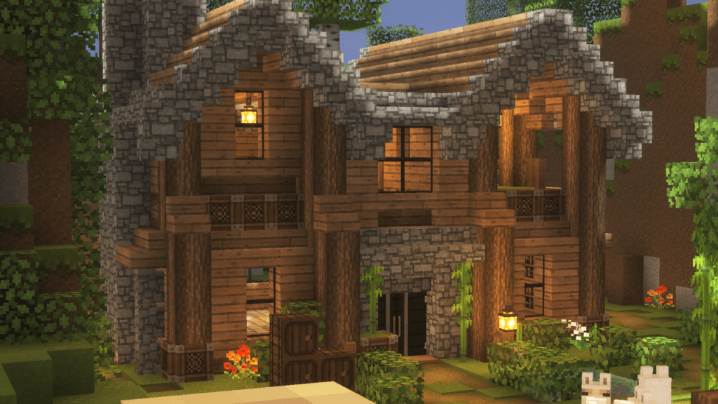 Minecraft — Minecraftisthecoolest Here's The The House That Minecraft Cottage Cute Minecraft Houses Minecraft Houses