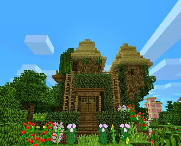 Minecraft Fairy House Made On PECute Little Cottage That You Could Probably Build In Survival Able To Be Cute Minecraft Houses