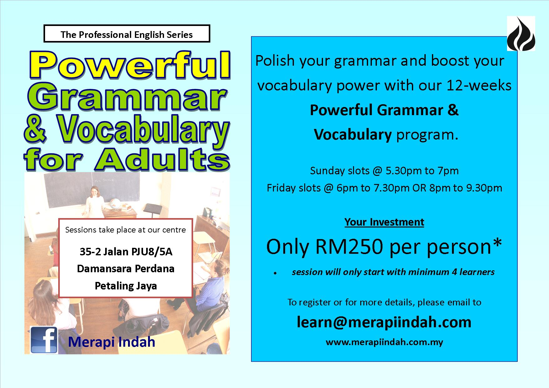 Powerful Grammar And Vocabulary Program For Adults