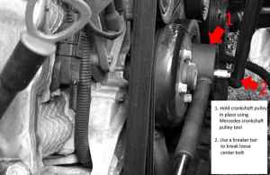 mercedes crankshaft pulley removal – MB Medic
