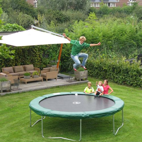 Kidwise Jumpfree 15 Ft Trampoline And Safety Enclosure: Kidwise 12 Ft Jumpfree Trampoline And Enclosure