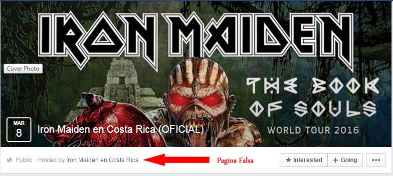 pagina falsa evento Redes Sociales y su mal uso en Costa Rica