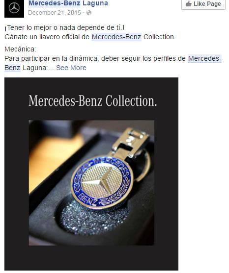 Llavero oferta Mercedes Benz - Redes Sociales y su mal uso en Costa Rica