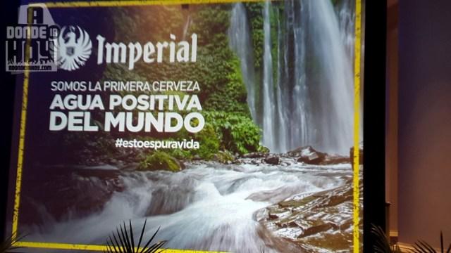 Imperialprimera cerveza a nivel mundial Agua Positiva.