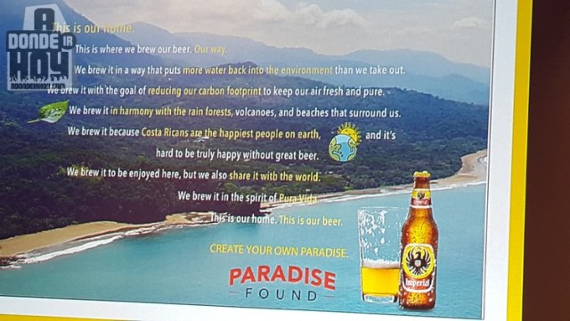 Imperial Beer Water Positive concept Costa Rica - First water positive beer in the world