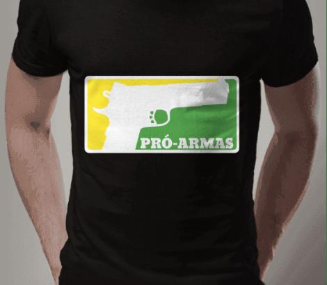 CAMISETA BRASIL PRÓ-ARMAS