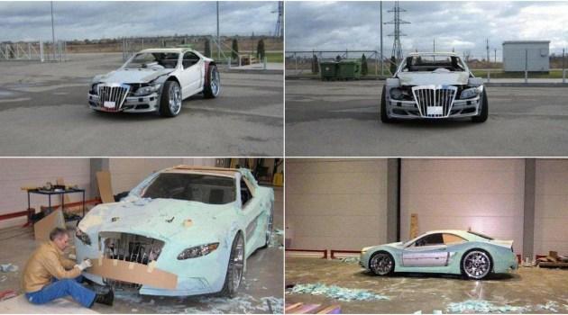 Transformando um Mercedes tirada do lixo (sucata) em um supercarro de luxo