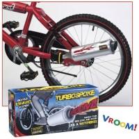 Agora não precisa mais colocar um plástico na roda da bicicleta para fazer o barulho de uma moto