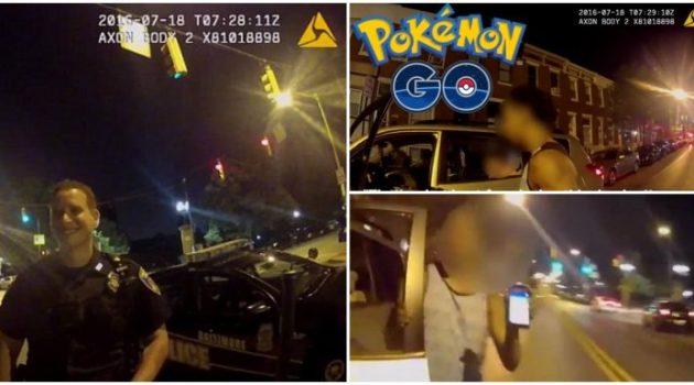 Bateu em um carro da polícia enquanto jogava Pokémon Go dirigindo