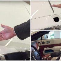 Sistema anti-roubo da estatueta presente em todos os Rolls-Royce