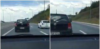 Este vídeo é para os motoristas que adoram andar empurrando o carro da frente (cuidado)
